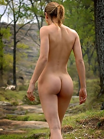 Teen likes to be naked outdoor